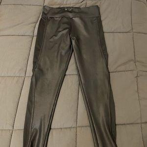 Full length leather leggings